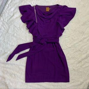ANTHRO- ALI RO | royal purple dress
